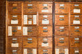 Vintage card catalogue Royalty Free Stock Photo