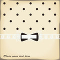 Vintage card with cute bow Royalty Free Stock Photo