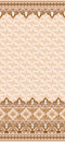 Vintage card with a fine pattern and wide border on beige background Royalty Free Stock Images