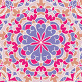 Vintage card with mandala pattern and ornament.