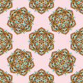 Vintage cards with seamless pattern