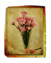 Vintage Carnations In Vase Royalty Free Stock Photo
