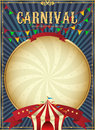 Vintage carnival. Circus poster template. Vector illustration. Festive Background Royalty Free Stock Photo