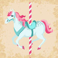 Vintage carousel horse retro style children illustration Royalty Free Stock Photography
