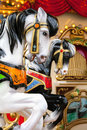 Vintage carousel or merry-go-round Royalty Free Stock Photo