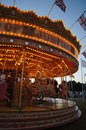 Vintage carousel at night Stock Image