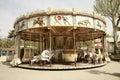 Vintage carousel ride Stock Photo