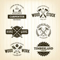 Vintage Carpentry Emblems Royalty Free Stock Photo