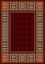 Vintage Carpet With Ethnic Geo...
