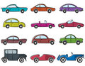 Vintage cars icons set Royalty Free Stock Image