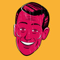 Vintage cartoon man illustration of a Royalty Free Stock Images