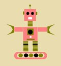 Vintage cartoon robot Stock Photography