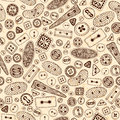Vintage cartoon sewing buttons seamless pattern for your web design vector grunge background oval round square rectangular and Stock Photos