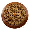 Vintage carved wooden vernier Royalty Free Stock Images