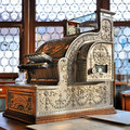 Vintage cash register Royalty Free Stock Photo