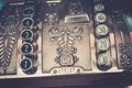 Vintage cash register close up Royalty Free Stock Image