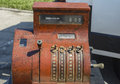 Vintage cash register exposed for sale Royalty Free Stock Photos