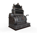 Vintage cash register isolated on white background d render Stock Images