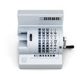 Vintage cash register  on white background. 3d render im Royalty Free Stock Photo