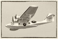 Vintage Catalina flying boat Royalty Free Stock Photo