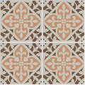 Vintage ceramic mosaic floor tile seamless pattern. Royalty Free Stock Photo