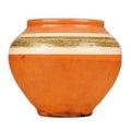 Vintage Ceramic Pot Isolated on White Background Royalty Free Stock Photo