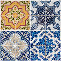 Vintage ceramic tiles Royalty Free Stock Images