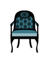 Vintage Chair furniture with rich ornaments
