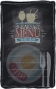 Vintage chalk breakfast menu chalkboard background eps Royalty Free Stock Photo