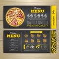 Vintage chalk drawing fast food menu design
