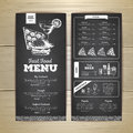 Vintage chalk drawing fast food menu design.