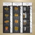 Vintage chalk drawing fast food menu. Sandwich sketch Royalty Free Stock Photo