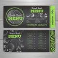 Vintage chalk drawing vegetarian food menu design. Fesh fuit ske