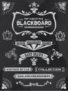 Vintage chalkboard design elements banners and ribbons vector illustration Royalty Free Stock Photo