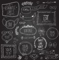 Vintage chalkboard labels set vector this is file of eps format Royalty Free Stock Images