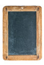 Vintage chalkboard with wooden frame isolated on white