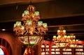 vintage chandelier ceiling lamp pendant light room lighting Royalty Free Stock Photo