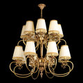Vintage chandelier isolated on black Royalty Free Stock Photo
