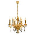 Vintage chandelier isolated on white Royalty Free Stock Photo