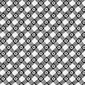 Vintage checked floral black and white background Stock Photos