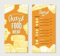 Vintage Cheese Restaurant Menu Template
