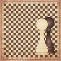 Vintage chess background vector illustration Royalty Free Stock Photography