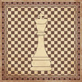 Vintage chess king background vector illustration Royalty Free Stock Images
