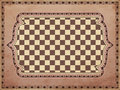 Vintage chessboard card vector illustration Royalty Free Stock Photos