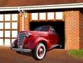Vintage chevrolet in garage Royalty Free Stock Photo