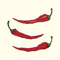 Vintage chili peppers
