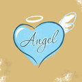 Vintage Christian design – Angel Royalty Free Stock Image