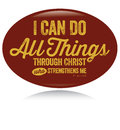 Vintage Christian design – I can do all things Stock Photography