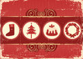 Vintage christmas background card for holiday Stock Photography
