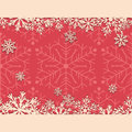 Vintage Christmas background with snowflakes. Paper snowflakes on a pink background.